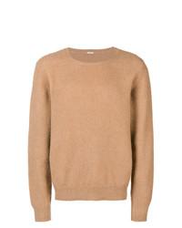 Мужской светло-коричневый свитер с круглым вырезом от Massimo Alba