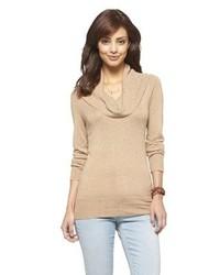 Светло-коричневый свитер с хомутом