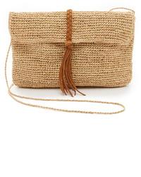Женский светло-коричневый соломенный клатч от Hat Attack