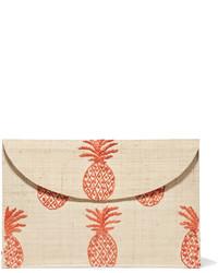 Женский светло-коричневый соломенный плетеный клатч от Kayu