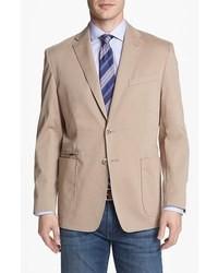 Светло-коричневый хлопковый пиджак