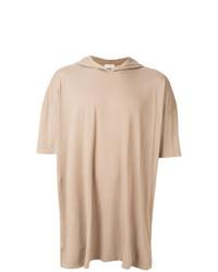 Мужской светло-коричневый худи с коротким рукавом от Faith Connexion