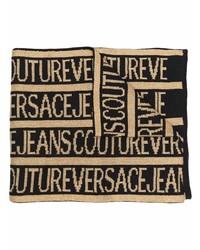 Мужской светло-коричневый шарф с принтом от VERSACE JEANS COUTURE