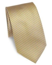 Светло-коричневый шелковый галстук