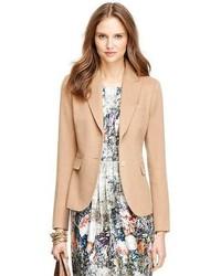 Светло-коричневый шерстяной пиджак