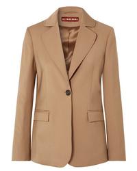 Женский светло-коричневый шерстяной пиджак от ALEXACHUNG