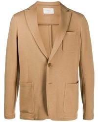 Мужской светло-коричневый шерстяной пиджак от Altea