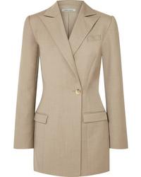 Женский светло-коричневый шерстяной пиджак от Anna Quan