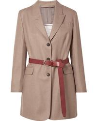 Женский светло-коричневый шерстяной пиджак от Giuliva Heritage Collection