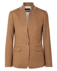 Женский светло-коричневый шерстяной пиджак от J.Crew