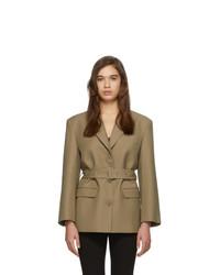 Женский светло-коричневый шерстяной пиджак от Low Classic