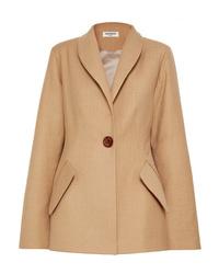 Женский светло-коричневый шерстяной пиджак от Materiel