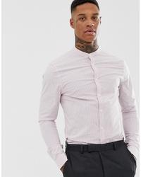 Мужская светло-фиолетовая классическая рубашка в вертикальную полоску от ASOS DESIGN