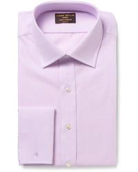 Мужская светло-фиолетовая классическая рубашка