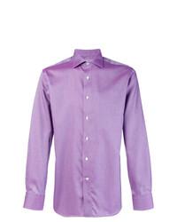 Мужская светло-фиолетовая классическая рубашка от Canali