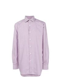 Мужская светло-фиолетовая классическая рубашка от Kiton