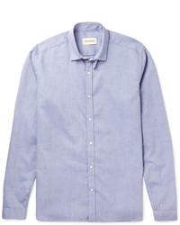 Мужская светло-фиолетовая классическая рубашка от Oliver Spencer