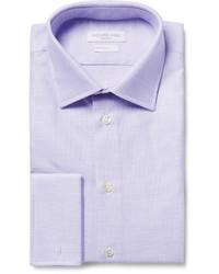 Мужская светло-фиолетовая классическая рубашка от Richard James