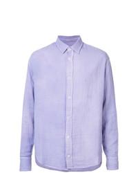Мужская светло-фиолетовая классическая рубашка от The Elder Statesman