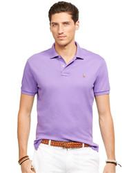 Светло-фиолетовая футболка-поло