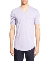 светло фиолетовая футболка с v образным вырезом original 11345243