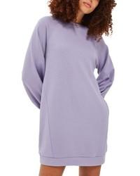 Светло-фиолетовое платье-свитер