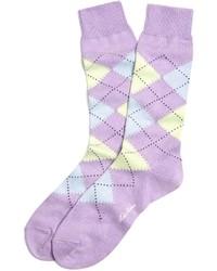 Светло-фиолетовые носки с принтом
