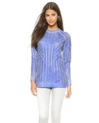 Светло-фиолетовый вязаный свитер