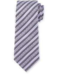 Светло-фиолетовый галстук в горизонтальную полоску