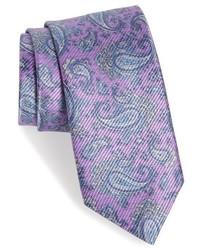 """Светло-фиолетовый галстук с """"огурцами"""""""