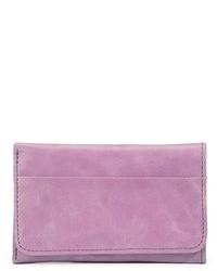 Светло-фиолетовый кожаный клатч