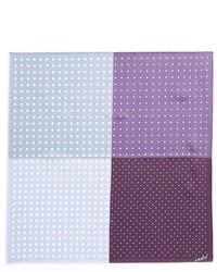 Светло-фиолетовый нагрудный платок в горошек