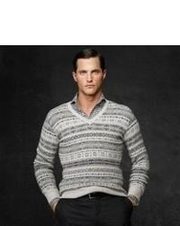 свитер с круглым вырезом с жаккардовым узором original 405755