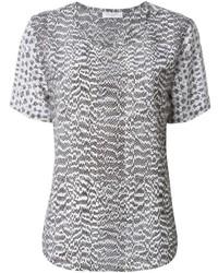 Серая блуза с коротким рукавом