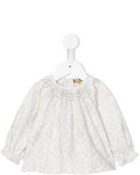 Детская серая блузка с длинным рукавом для девочке