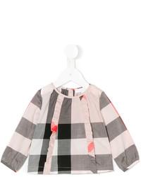 Детская серая блузка с длинным рукавом для девочке от Burberry