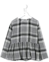 Детская серая блузка с длинным рукавом для девочке от Il Gufo