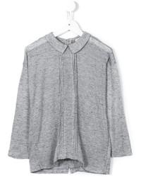 Детская серая блузка с длинным рукавом для девочке от Morley