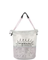 Мужская серая большая сумка из плотной ткани с принтом от Kolor Beacon