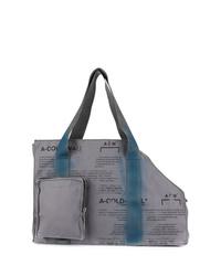 Мужская серая большая сумка из плотной ткани от A-Cold-Wall*