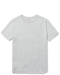 Серая вязаная футболка с круглым вырезом