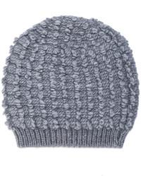 Женская серая вязаная шапка