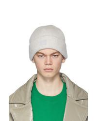 Мужская серая вязаная шапка от Acne Studios