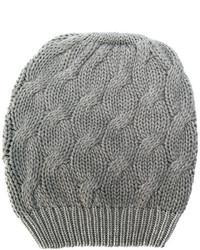 Женская серая вязаная шапка от Cruciani