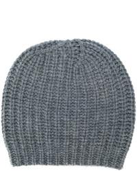 Женская серая вязаная шапка от Danielapi