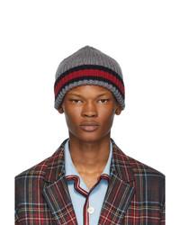 Мужская серая вязаная шапка от Gucci