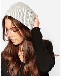 Женская серая вязаная шапка от Hat Attack