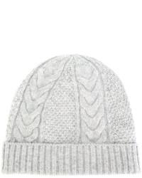 Женская серая вязаная шапка от N.Peal