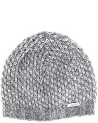 Женская серая вязаная шапка от Norton Co.