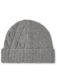 Мужская серая вязаная шапка от Oliver Spencer